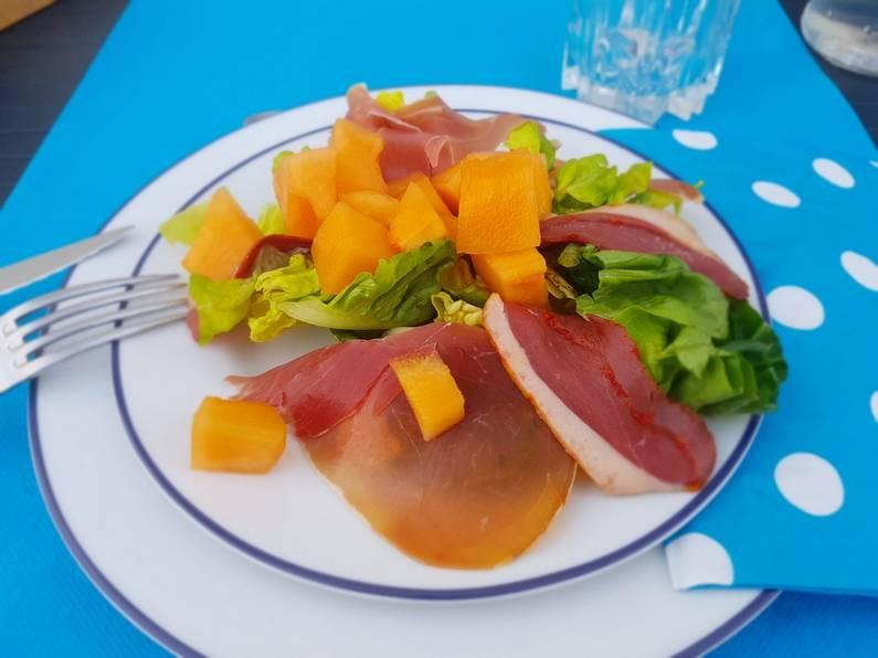 Salade duo de jambon au melon | Jupette & Salopette