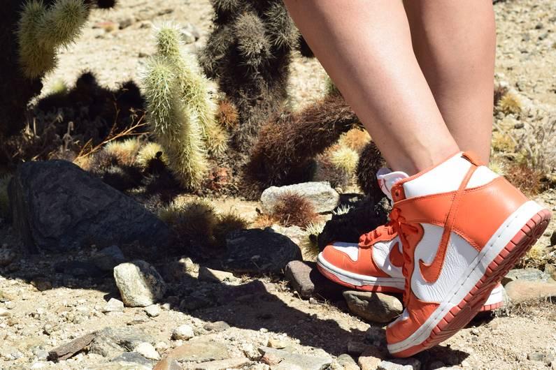 Look Nike au parc de Joshua Tree | Jupette & Salopette