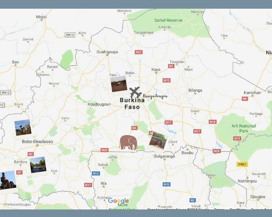Carte du Burkina Faso | Jupette & Salopette
