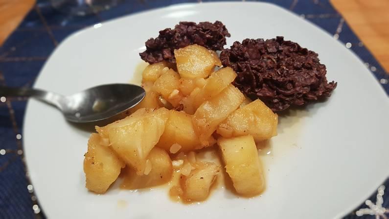 Dessert : Ananas poêlé et rose des sables | Jupette & Salopette