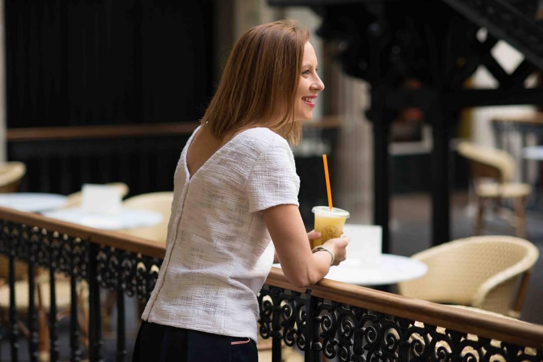 Mannequin d'un jour pour la collection de printemps de la créatrice Julie Laurent | Jupette & Salopette