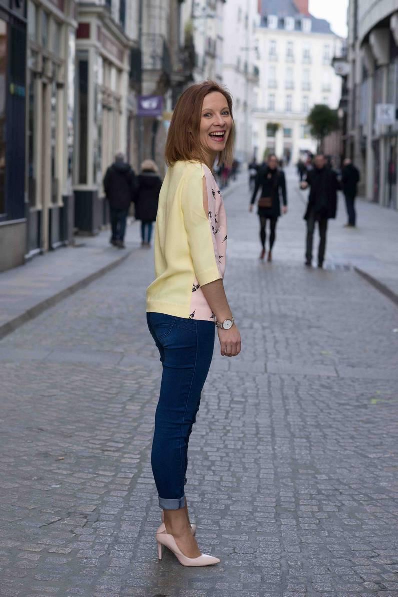 Blouses Ichi Yellow et White par la créatrice Julie Laurent | Jupette & Salopette