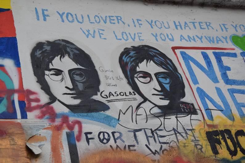 le Mur de John Lennon de Prague