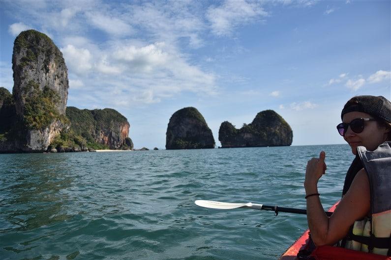 Kayak vers Phra nang Cave beach | Jupette & Salopette
