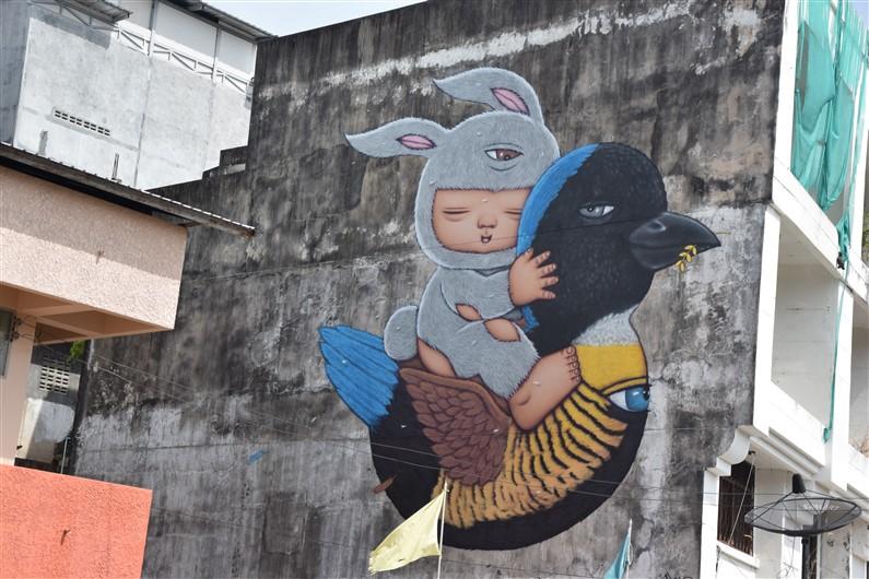 Krabi street art | Jupette & Salopette