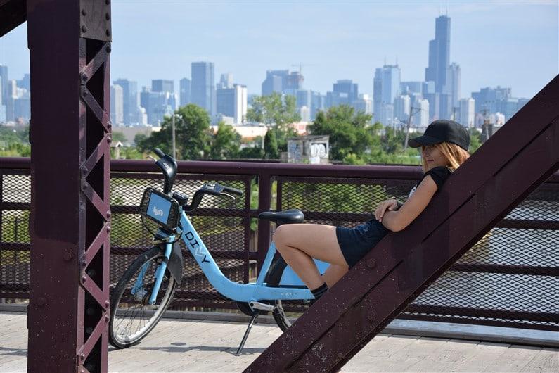 Balade en vélo Chicago | Jupette & Salopette