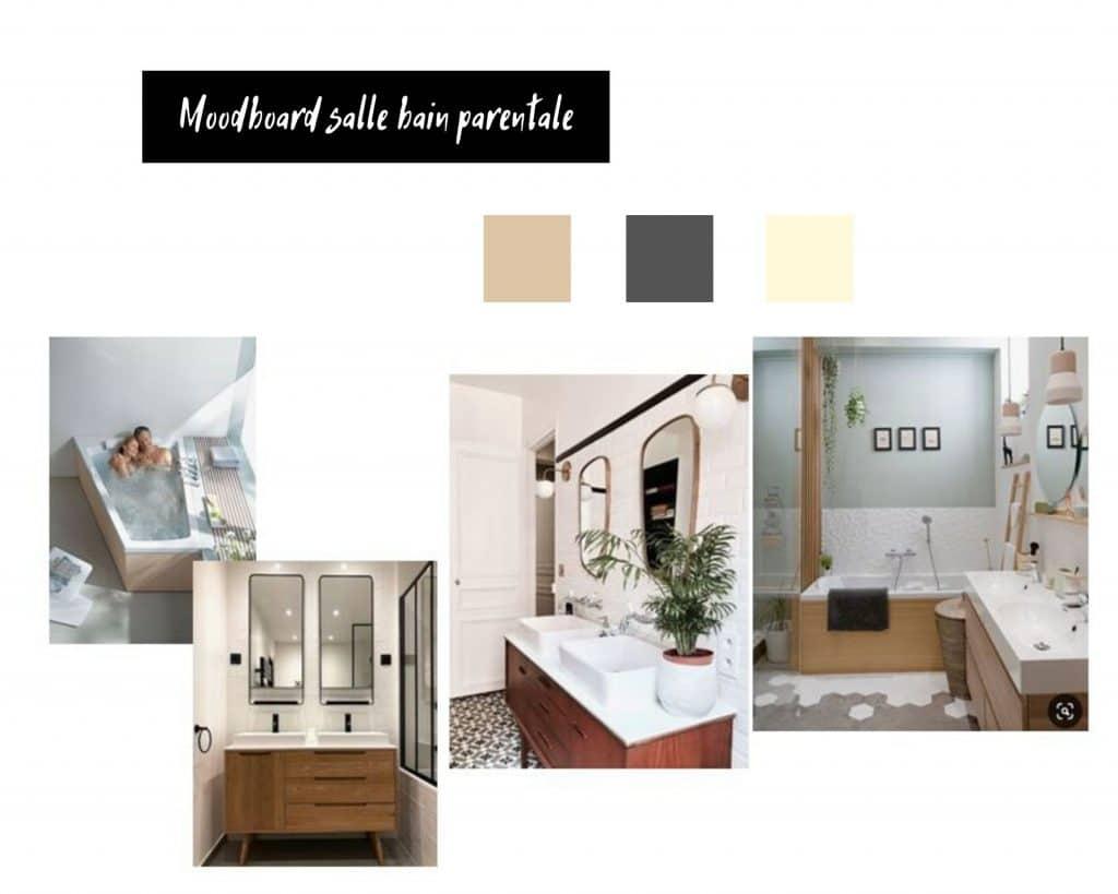 Moodboard Salle bain parentale | Jupette & Salopette