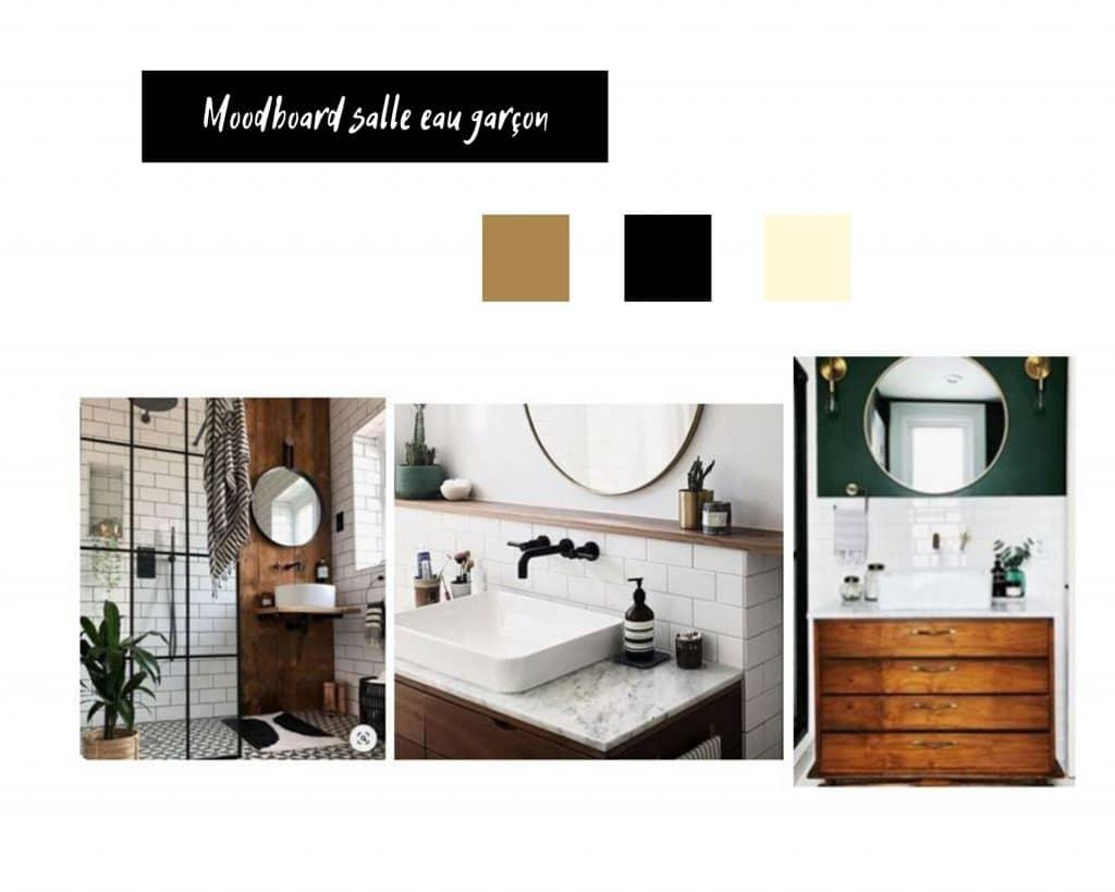 Moodboard salle eau garçons | Jupette & Salopette