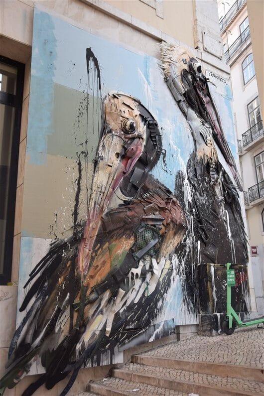 Oeuvre murale d'Artur Bordalo, alias Bordalo II | Jupette & Salopette